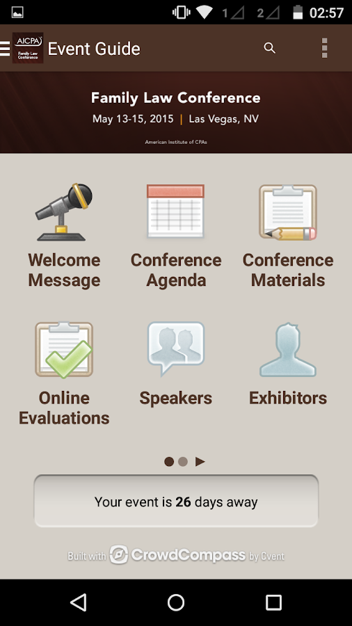 AICPA Conferences - screenshot