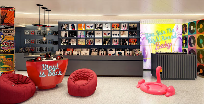 Virgin Voyages outfits first ship with musical stylings