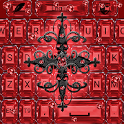 Red Gothic Cross Keyboard theme