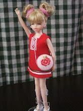 Photo: こぎん刺しのマカロンバッグ、リカちゃんなどお人形用に。