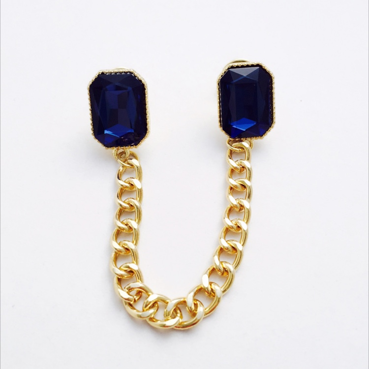M. Deep Blue Sea Collar Brooch by House of LaBelleD.