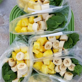 Pina-Colada Green Smoothies.