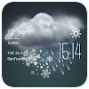 hail weather widget/clock