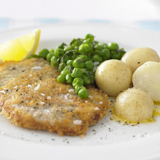 Veal Schnitzel with Minted Peas.