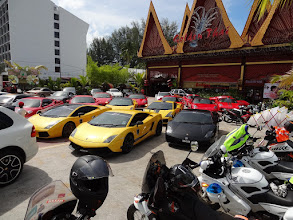 Photo: Gathering of the Super Car Club Penang (SCCP).