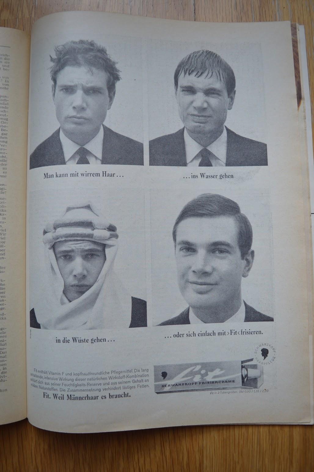 DER SPIEGEL, 29. April 1964 - Werbung für Frisiercreme