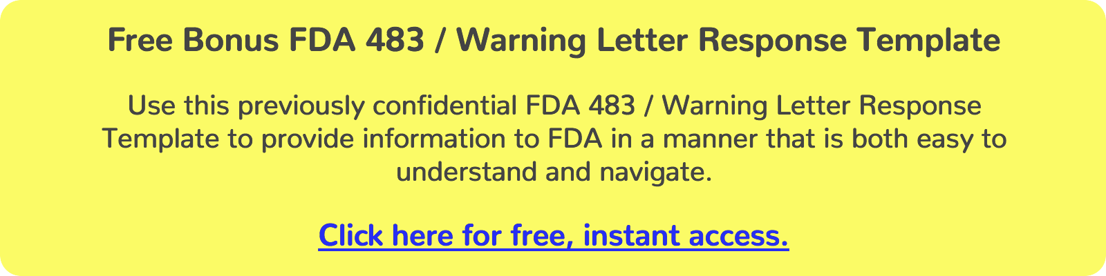 The Definitive Guide to Responding to FDA 483 Observations and – Warning Letter