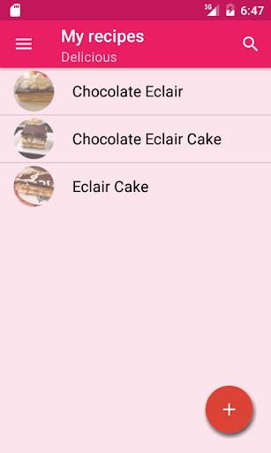 My cook book screenshot