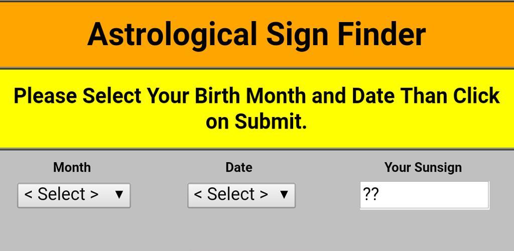Astrological   Horoscope   Zodiac Sign Finder 1 0 Apk