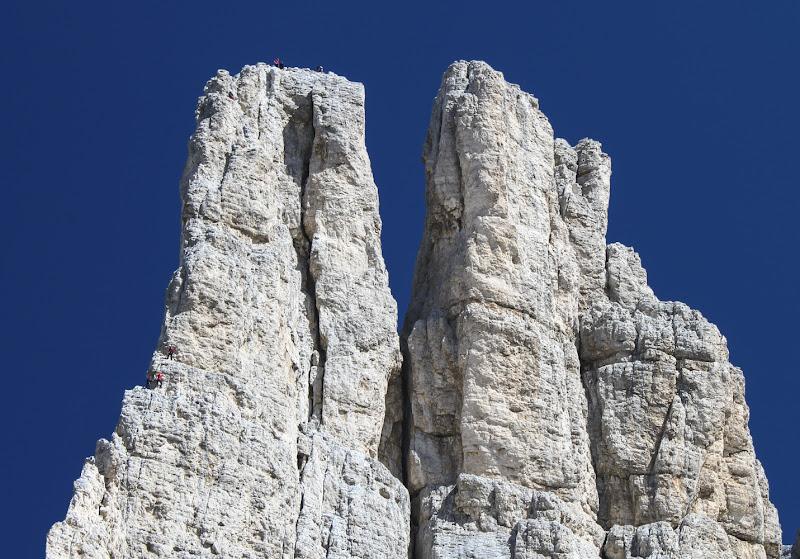 In vetta e in cordata sulla Torre Delago (Torri del Vajolet) di daniele1357
