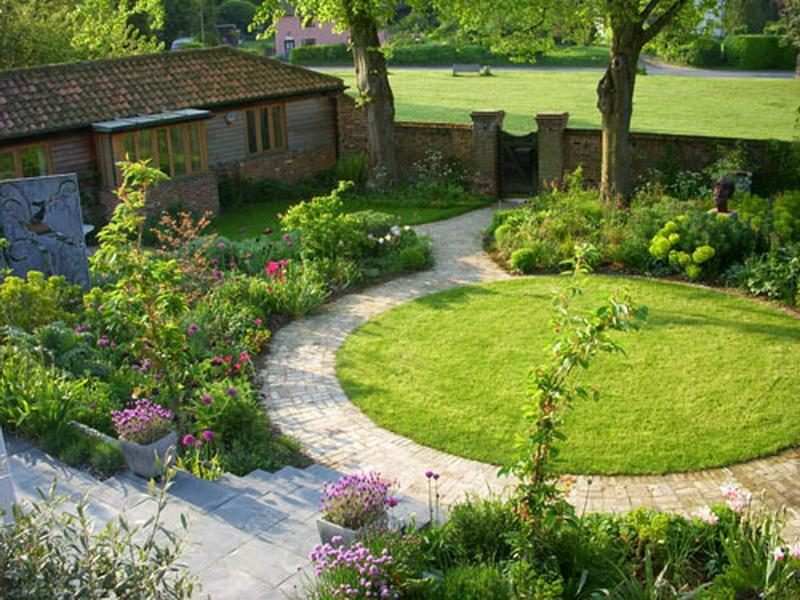 Garden design ideas android apps on google play for Circular lawn garden designs