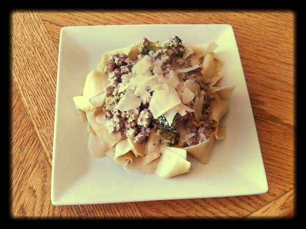 Pappardelle With Pork Ragu Alfredo Recipe