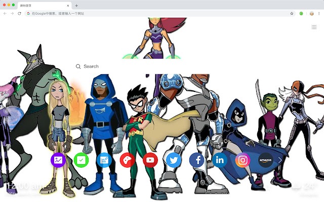 Teen Titan HD New Tabs Popular DC Themes
