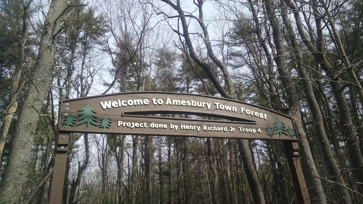 Amesbury Town Forest - Amesbury, MA trail map