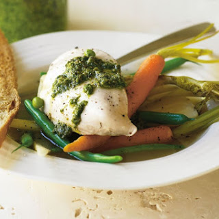 Poached Chicken With Pesto