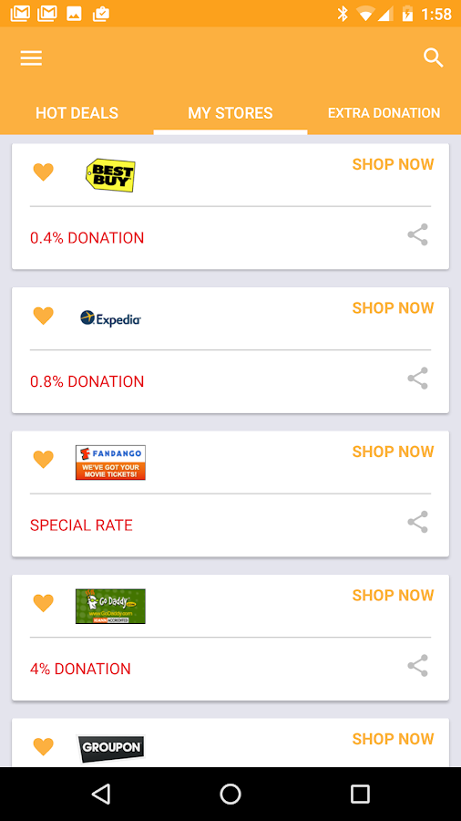 iGive- screenshot