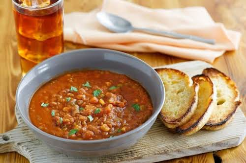 """Budget Friendly & Delicious Lentil Stew """"This stew is delicious on it's..."""