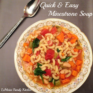 Quick & Easy Minestrone Soup.