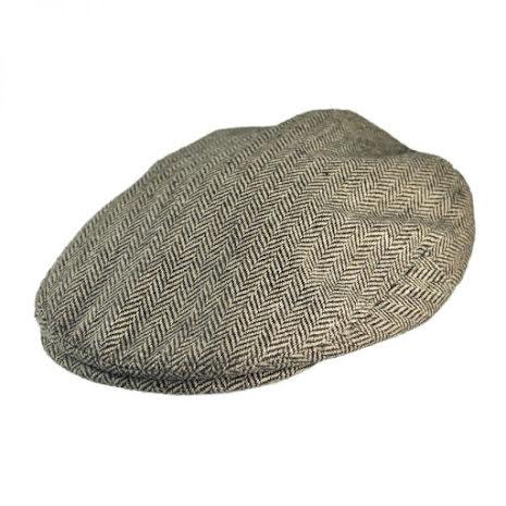 H-bone Flat Cap, brun