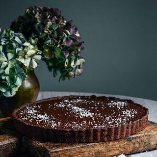 Dark Chocolate Tart with Sea Salt.