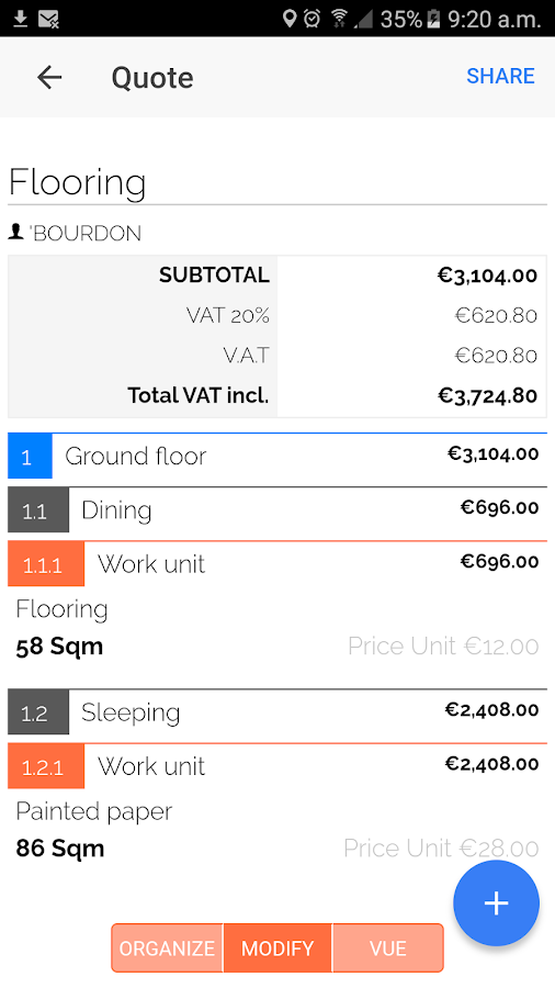 Estimate on-site for the construction professional- screenshot