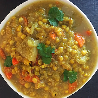 Slow Cooker Split Bean, Quinoa & Veggie Soup