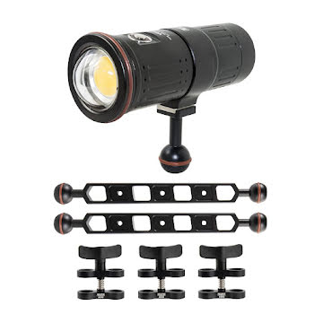 SCUBALAMP VIDEO KIT 12 000 LUMEN WITH STURDY ARMS
