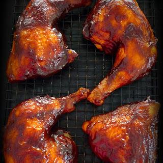 Simple BBQ'd Chicken Leg Quarters.