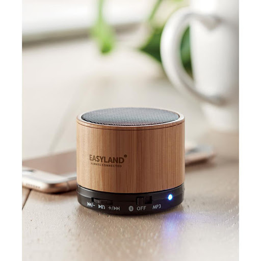 Bamboo Bluetooth Speaker, in ABS with bamboo casing