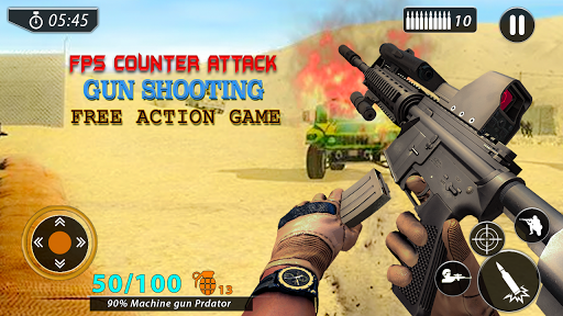 Code Triche Fps Counter Attack - Gun Shooting Free Action Game APK MOD screenshots 1