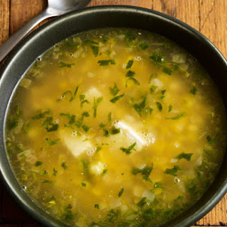 Corn Soup with Queso.
