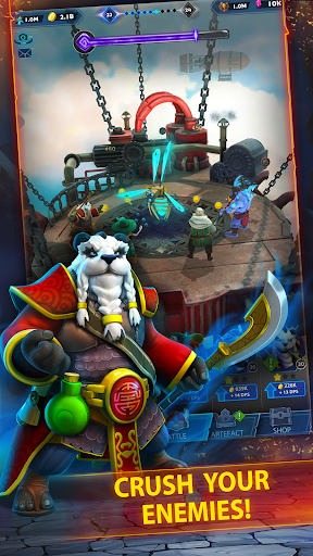 Code Triche Hero Ring u2013 epic 3D tap idler fantasy time killer APK MOD screenshots 5