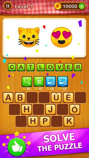 2 Emoji 1 Word - Guess Emoji Word Games Puzzle 1.6 screenshots 1