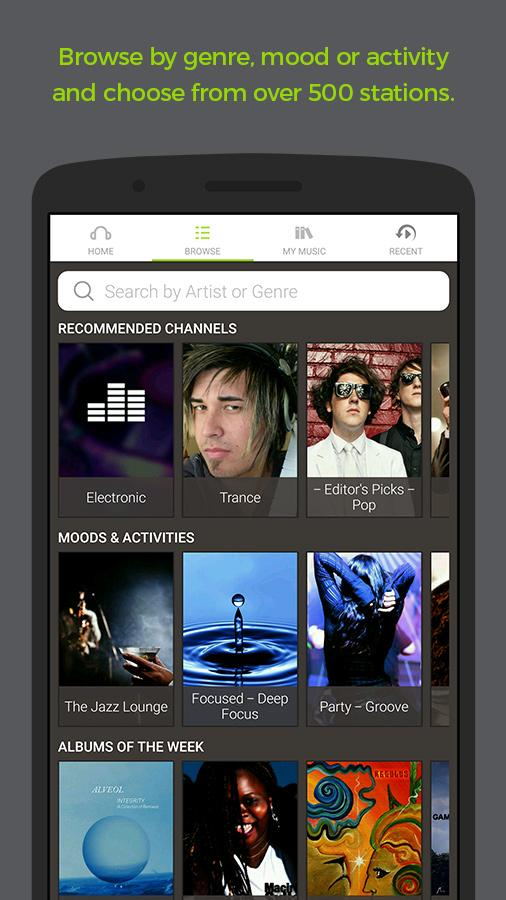 Earbits Music Discovery App- screenshot