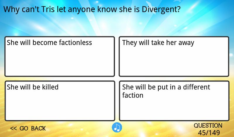 Скриншот Ultimate Divergent Trivia
