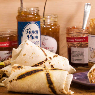 Curtis Stone's Peanut Butter, Jam and Banana Burrito To Go.