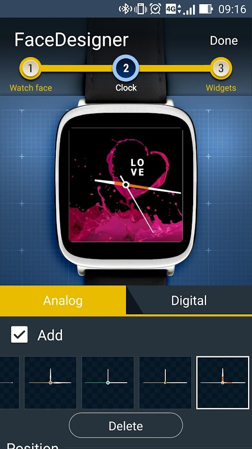 FaceDesigner:watch face making- screenshot