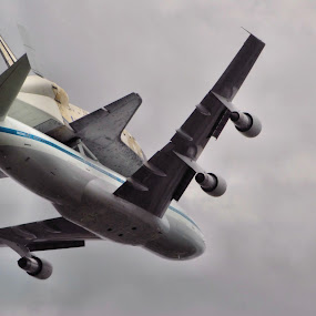 Shuttle Arriving by Jim Schlett - Transportation Airplanes ( flight, plane, shuttle airspace, jet )