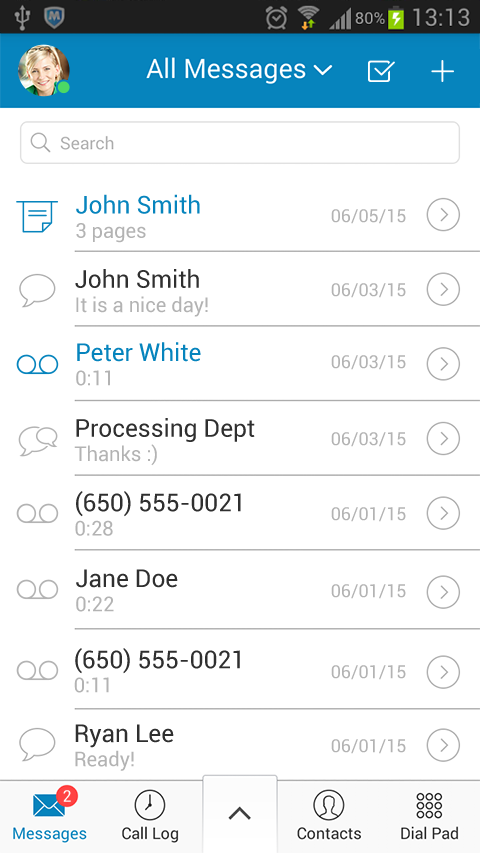 RingCentral Office@Hand- screenshot