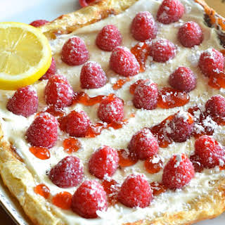 Raspberry Lemon Cheesecake Pastry.