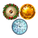 3 New Year Clockfaces For Battery Saving Clocks icon