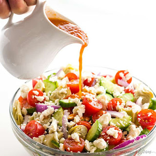 Mediterranean Salad with Sun-Dried Tomato Vinaigrette Recipe