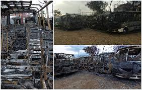 Resultado de imagen para quemadas unidades de transporte bolivariano