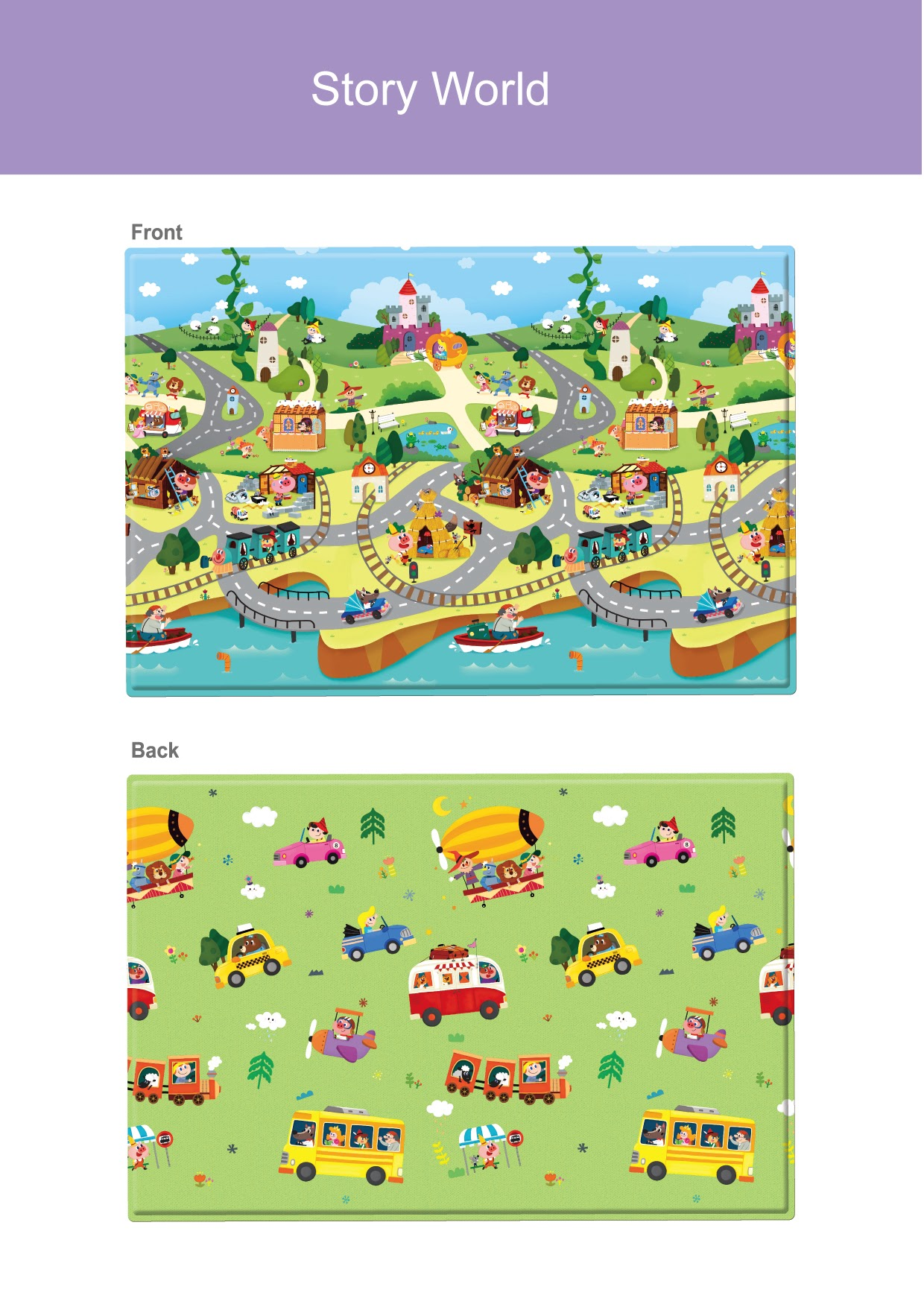 Photo: Comflor S Story World (140x140x1.1cm) custom fits 8 panel Comflor playard
