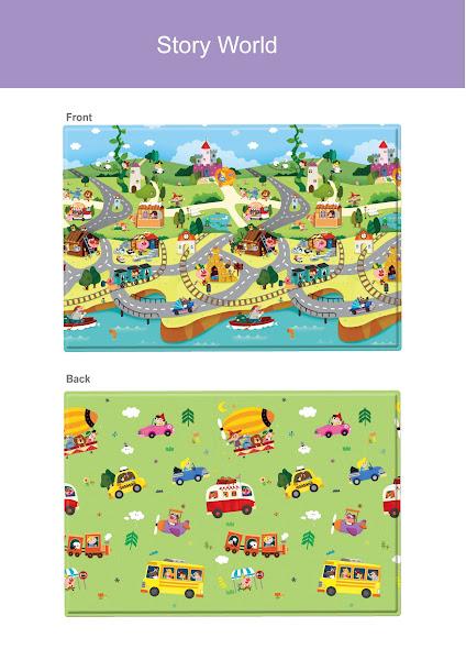 Photo: Comflor S Story World (140x140x1.1cm) custom fits 8 panel Comflor playard