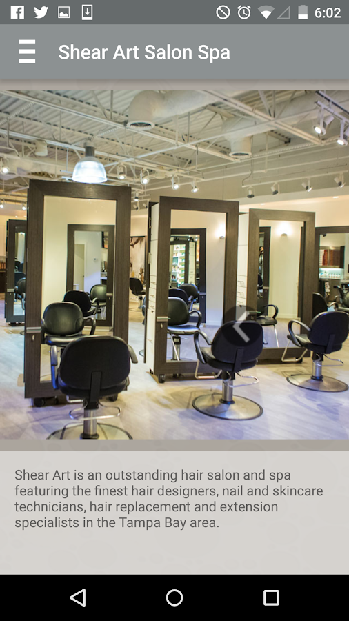 Shear Art Salon and Spa- screenshot