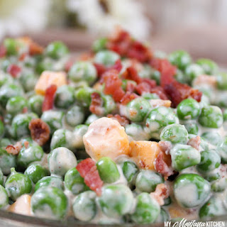 Creamy Pea Salad (THM-S, Low Carb).