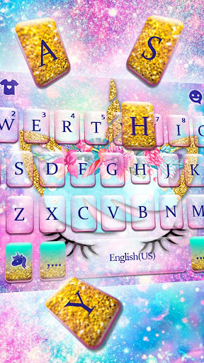 Screenshot for Galaxy Flower Unicorn Keyboard Theme in United States Play Store
