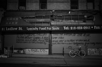 Photo: Poetry on a store gate. Last night.   Lower East Side, New York City.  View the writing that accompanies this post here at this link on Google Plus:  https://plus.google.com/108527329601014444443/posts/GsTGTmgJhAB  View more New York City photography by Vivienne Gucwa here:  http://nythroughthelens.com/