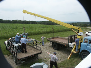 Photo: Telescope base being lifted